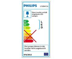 Philips myGarden Ledino Flagstone - Aplique de pared, iluminación exterior, 7,5 W, 1 bombilla incluida, color gris