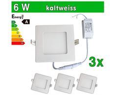 3 x LED de SMD 2835 LEDVero maikai 6 W cuadrado blanco frío de la lámpara luz de techo del punto