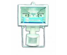 Electraline 63007 - Proyector halógeno con detector (400 W), color blanco