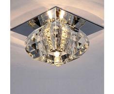 Fuloon - Moderna 3W LED Lámpara de Techo Focos de pared Colgante Cristal para Iluminación Sala Pasillo