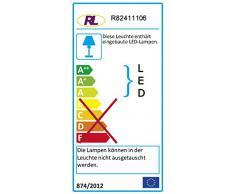 Reality Rennes - Foco de pared para interior, SMD, LED, 4 W, 350 lm, 3000 K, color cromo