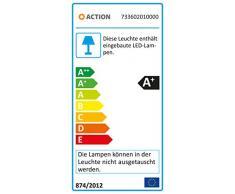 Action lámpara de techo, 2 x LED 2-focos Morgan/5 W, 8 x 15 x 26, 5 cm, 3000 K, 400 lm, eficiencia energética de clase a +, cromo 733602010000