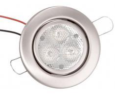 Brumberg R3005WW4 - Bombilla empotrada LED (3 unidades, 1,2 W, níquel), color mate