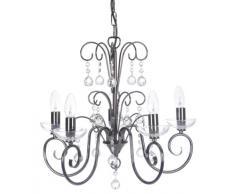 Oaks Lighting 1784/5 CH Atanea - Lámpara de araña con 5 luces, color cromado