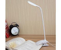 Lámpara de Mesa, VSOAIR Lámparas de Escritorio Flexibles de LED con 3 Luces de Lectura de Atenuador Táctil de Nivel de Brillo