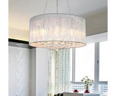 Araña antigua de bronce, lámparas de techo de salón candelabro,Dibujo gotas de cristal hotel Salón de techo de tela araña Dimensiones: 470 * 470 * 200 (mm)