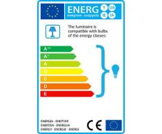 QAZQA Clásico/Antiguo / Rústico / Lámpara de pie QUINTO 1 óxido Vidrio / Metal / Redonda / Alargada / Adecuado para LED E27 Max. 1 x 60 Watt