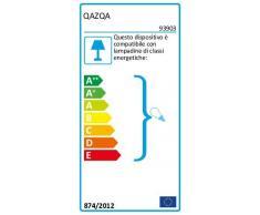 QAZQA Moderno Aplique EMMERALD 1 acero sensor crepuscular Plástico/Acero inoxidable Rectangular Adecuado para LED Max. 1 x 15 Watt