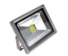 PrimLight 3 pcs 20W Impermeable Blanco Cálido Luz Foco LED,Proyector de Exterior, Luz de Seguridad,Luz de Pared IP65