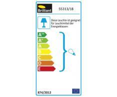 Brilliant 55313/18 Sofia - Lámpara de techo con 2 focos (latón y alabastro, 2 bombillas E14, 40 W)