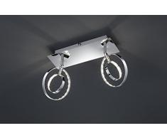 Reality Prater - Barra de foco para interior con 2 luces, SMD, LED, 4 W, 360 lm, 3000 K, color cromo