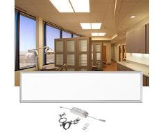 LE Panel LED 36W, equivalente fluorescente 80W, 2700lm, blanco neutro, 4000K, 1195*295mm, luz de techo