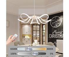 LED Lámpara Colgante Comedor 65W Regulable Colgante de Luz Metal Lámpara de Techo Moderno Luz de Suspensión Diseño Altura Ajustable Interior Iluminación por Oficina Restaurante Con Control Remoto