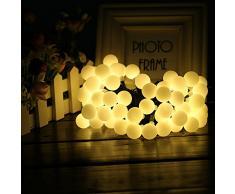 Luces Led Solar 60 LED lamparas Exterior de Decoración, perfecto para Jardín, Fiestas, Boda, Arbol de Navidad, Terraza y al Aire Libre