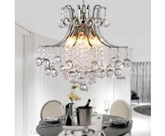 Vivreal® Lámpara de techo Colgante Araña con Cristal Metal Bolas 6 Luces para Casa