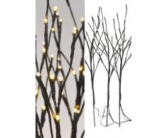 Spetebo - Ramas decorativas con iluminación LED (3 unidades, 75 ledes, luz blanca cálida)