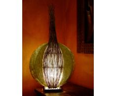 Lámpara de pie asiatica Moon shell/guscio (LA12-34), Decoración luminosa de diseño Bali