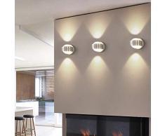 TOPERSUN 6W LED Apliques de pared Modernos Luz de pared Blanco Cálido Dormitorio Pasillo Sala de Estar Escaleras