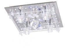 Leuchten Direkt 50365-17 - Lámpara de techo (5 x G4, 20 W), color cromo