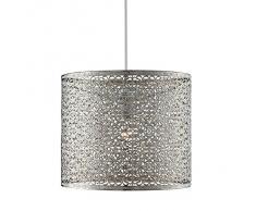 Lighting Collection 700035 - Lámpara de techo (60 W, no electrificada, cromo), metal, plata