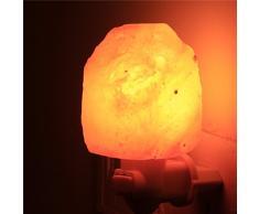 Mini mano tallada cristal natural Himalayan lámpara de la sal luz de la noche (Piedra original)