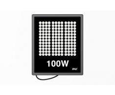 30W 50W 100W Floodlight Led Foco Proyector Led para Exterior Iluminación Decoración Blanco cálido 3500K/Blanco frío 6500K IP67 (100W, Blanco frío)