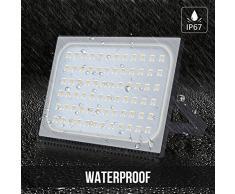 500W LED Blanco cálido IP67 impermeable Foco Proyector Reflector de la Lámpara LED Seguridad Luz Brillante luz de Inundación al aire Libre 220V Para el Jardín, Cartelera, Almacén (500W)