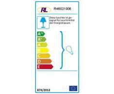 Reality Brasilia - Lámpara de pie, E27, cromo, acrílico, 230 V, color blanco