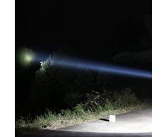 Heaviesk 5 Luz puntual de Mano Resistente al Agua Lámpara de Trabajo al Aire Libre Recargable Foco LED súper Brillante para la Caza de Pesca Camping