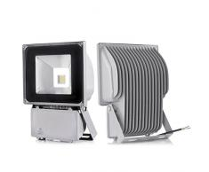 Pack of 2,Cool white 100W Proyector de iluminación focos de luz blanca fría IP65 LED