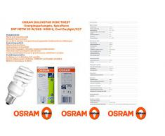 OSRAM - Bombilla bajo consumo mini espiral 23W=107 E27 luz fría