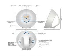 Despertador LED Wake Up Light - Reloj despertador simulador de amanecer con radio - Lámpara blanca con simulación de luz solar y Bluetooth