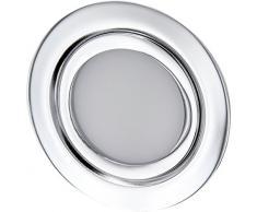 Foco empotrable LED fino para muebles, completo de metal, IP44, 12 V, adecuado para caja de 60 mm de diámetro, blanco diurno (4000 K)