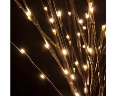 Rama marrón, 144 LED luz cálida, 100 cm, iluminación decorativa, ramas luminosas, luces para la casa