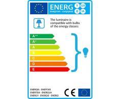 QAZQA Moderno Lámpara de pie VIRGINIA gris oscuro Aluminio / Plástico / Metal / Redonda / Alargada / Adecuado para LED E27 Max. 1 x 40 Watt