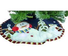 """48"""" falda de árbol de Navidad muñeco de nieve con luz LED cambio de color"""