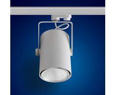 mext Electronic de 3 fases de alimentación carril Foco 40 W Foco LED 3 fases, F10, luz blanca neutra para sistema de raíles