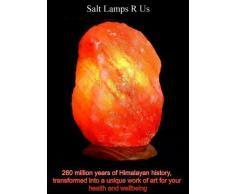 Lámparas de Sal del Himalaya de 7-9 kgs - Base de Madera con Accesorios Incluidos + Bombilla con Soporte de Vela de Sal Gratis