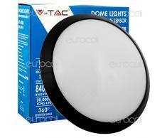 V-TAC 4981 Negro, Blanco iluminación de techo - Lámpara (Dormitorio, Oficina, Negro, Blanco, IP66, Empotrada, Alrededor, 1 bombilla(s))