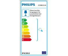 Philips myGarden Creek - Lámpara colgante, iluminación exterior, casquillo E27, 60 W, 220 V, color blanco