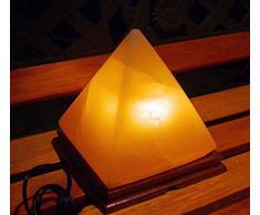 Lámpara de Roca de Cristal Himalayo en Forma de Pirámide, Terapéutica Natural 2-3kg