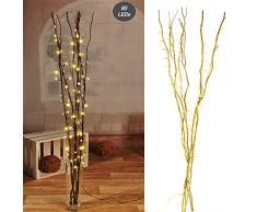 luz ramas con 80 ledes Oro Iluminación Bombilla rama Decoración Rama de luces
