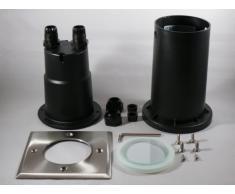 Calypso - Foco led empotrable para suelo (cuadrado, 6 W, 230 V, casquillo GU10, 540 lúmenes, luz blanca fría)