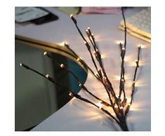 Rama de luz con forma de rama creativa, luces para árboles decorativos, plegables, luz de rama impermeable para LED adecuada para el ambiente para iluminación decorativa, bodas, 2 unidades