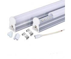 Regleta Integrada Tubo LED T5 30cm. 4w. Conexión Dos Laterales. Color Blanco Neutro (4500K). Fluorescente cocinas, armarios, trastero.