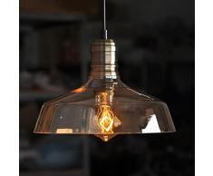indutrial de la vendimia retro vidrio loft de luz de la lámpara de techo colgante de la cortina moderna ámbar