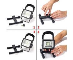 Foco LED Proyector Lámpara Camping 15W Foco LED Reflector para Trabajo Exterior, Lámpara Proyector LED Luz Portátil para Trabajo de Noche, Patio, Terraza, Pescado, Camping