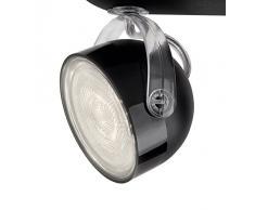 Philips myLiving Dyna - Barra de focos, iluminación interior, 4 focos, LED, IP20, luz blanca cálida, color negro