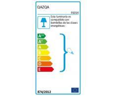 QAZQA Moderno Plafón JEANY 4 acero Metálica Redonda/Rectangular Adecuado para LED Max. 4 x Watt