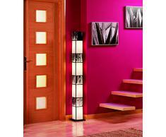 Lamparas de Pie Artesanales : Modelo WADHISH Gris de 14x153x14cms.